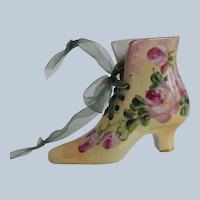 Limoges China Old Fashion Victorian Style Ladies Shoe Boot