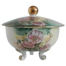 Lefton Floral Trinket Box