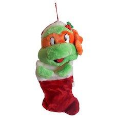 Mutant Ninja Turtle Michaelangelo Christmas Stocking