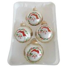 Christmas by Krebs Santa Decorated Glass Ornaments