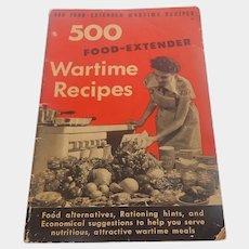 500 Food Extender Wartime Recipes 1942
