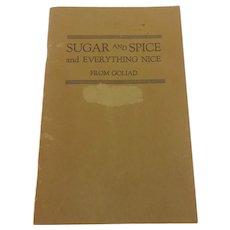 Goliad Souvenir Cook book  Goliad Texas