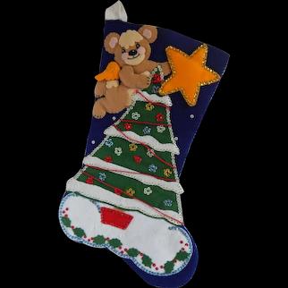 Finished Bucilla Christmas Stocking