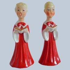 Japan Choir Boy and Girl Salt and Pepper Shakers