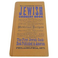 Mrs. Esther Levy's Jewish Cookery Book