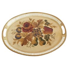 Handpainted Metal Serving Tray