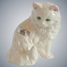 Goebel White Cat Figurine