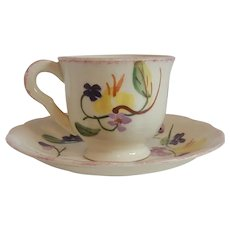 Blue Ridge Demitasse Cup and Saucer
