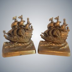 Sailing Ships Cast Metal Bookends
