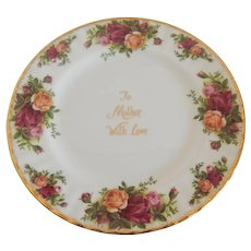 Royal Albert Old Country Roses To Mother With Love Plate