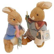 Eden Toys Plush Peter Rabbit and Mrs. Rabbit