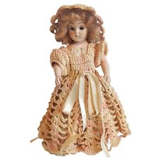 Duchess Doll in Crocheted Dress