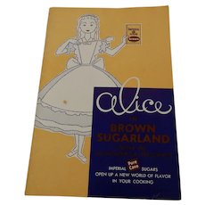 Alice In Brown Sugarland Cookbook Booklet