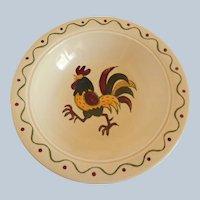Metlox California Provincial Poppytrail Green Rooster Vegetable Bowl