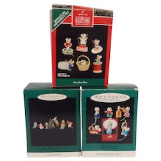 Hallmark Keepsake Three Miniature Set Of Mice
