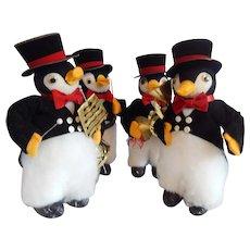 Christmas Decoration Four Penguin Band