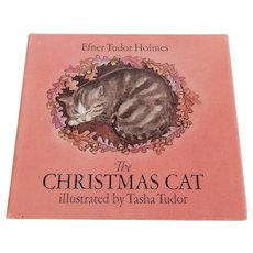 The Christmas Cat Illustrated by Tasha Tudo Signed