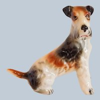 Ceramic Terrier Dog Figurine Japan