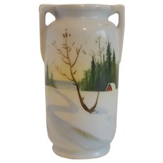 Hand Painted Vase Made in Japan