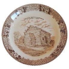 Lincolns Birthplace Plate Old English Staffordhire Ware