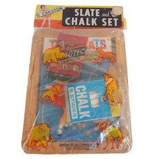 Children's Creston Slate and Chalk Set with  Coloring Book  And Crayons