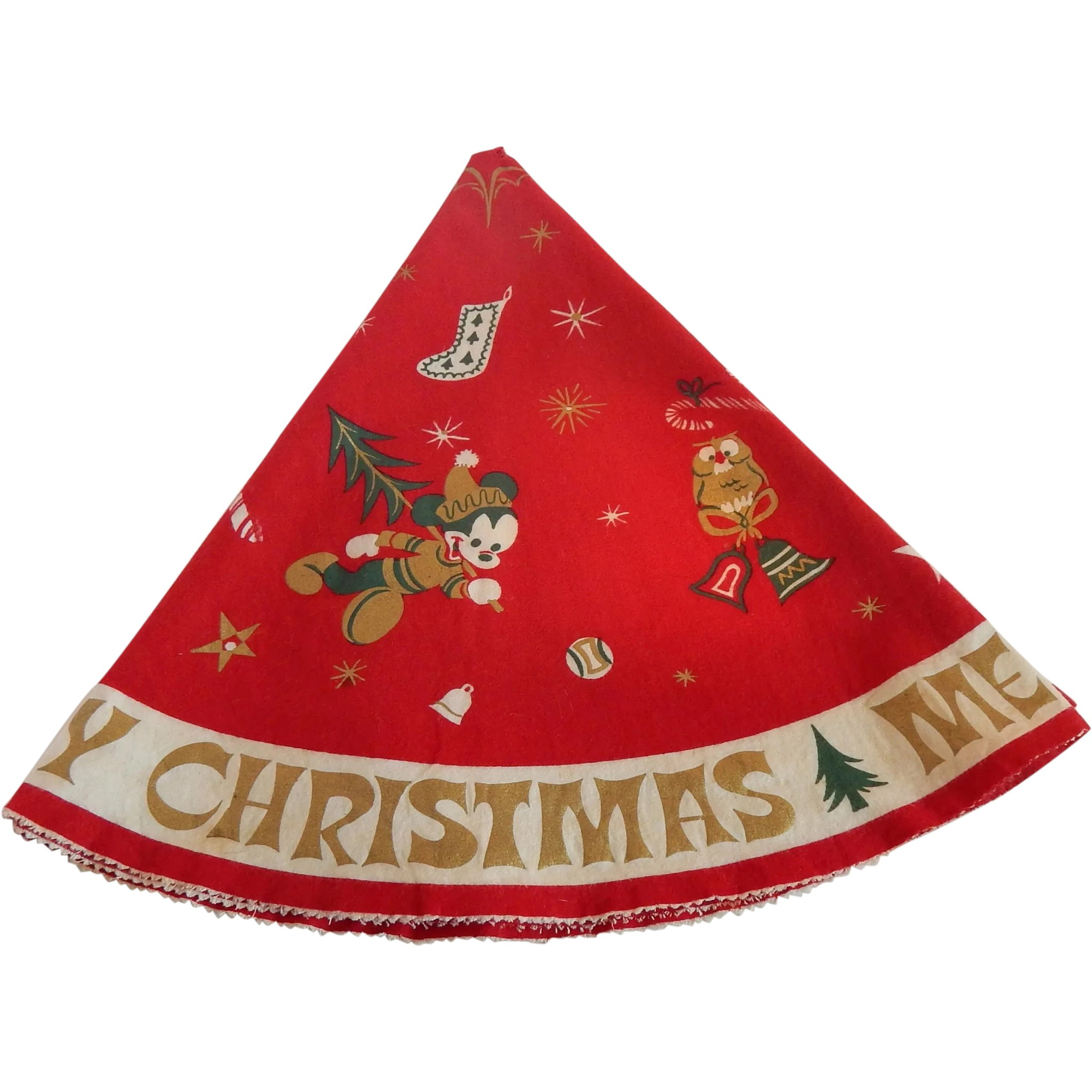 Vintage Disney Christmas Tree Skirt Colemans Collectibles Ruby Lane