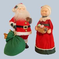 Santa Claus And Mrs. Claus Figural