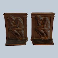Thinker Cast Iron Bookends