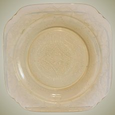 Federal Glass Amber Madrid Salad Plate