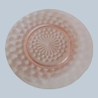 Jeannette Glass Pink Cubist Plates