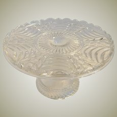Beautiful Vintage Crystal Glass Cake Stand