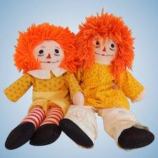 Raggedy Ann & Andy Cloth Dolls