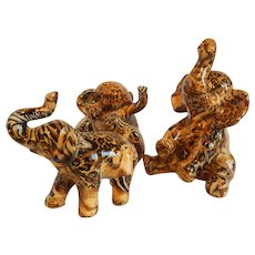 Three LaVie Safari Elephant Figurines