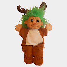 Russ Berrie Troll Doll as Rudolph The Red Nose Reindeer