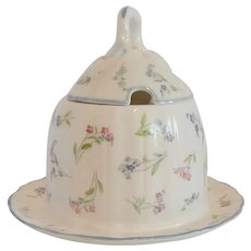Royal Worcester Forget Me Not Honey Pot / Jam