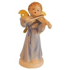 Boy Angel Playing Violin Figurine