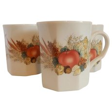 Four Autumn Cornucopia Mugs Andrea by Sadek
