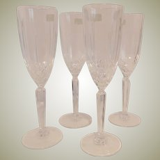 Four Marquis by Waterford Sparkle Champagne Flutes
