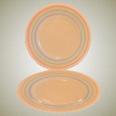 Two MacBeth-Evans Petalware Pastel Salad Plates