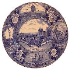 Jon Roth Staffordshire Historical Souvenir Plate Of Utah