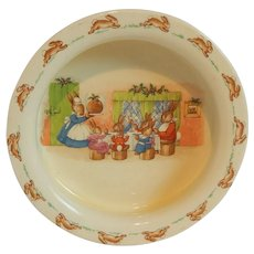 Royal Doulton Bunnykins Nursery Feeding Plate