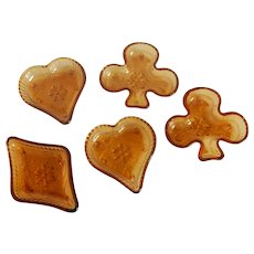 Indiana Tiara Exclusives Sandwich Amber Bridge Set