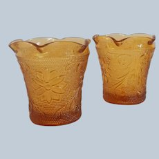 Indiana Tiara Exclusives Amber Votive Candle Holders
