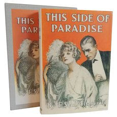 This Side Of Paradise F. Scott Fitzgerald First Edition Library
