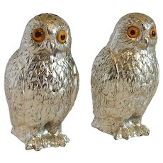 Owl Metal Salt and Pepper Shakes