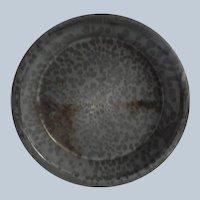 Vintage Grey Speckled Enamel Ware Pie Plate