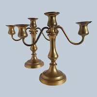 Reed And Barton Brass Candelabras