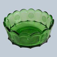 Fostoria Glass Emerald Green Coin Bowl