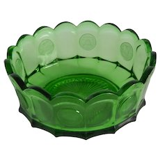 Fostoria Glass Emerald Green Coin Bowl