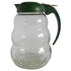 Syrup Dispenser With Green Lid